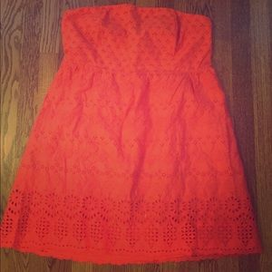 Old Navy strapless coral dress, size 16
